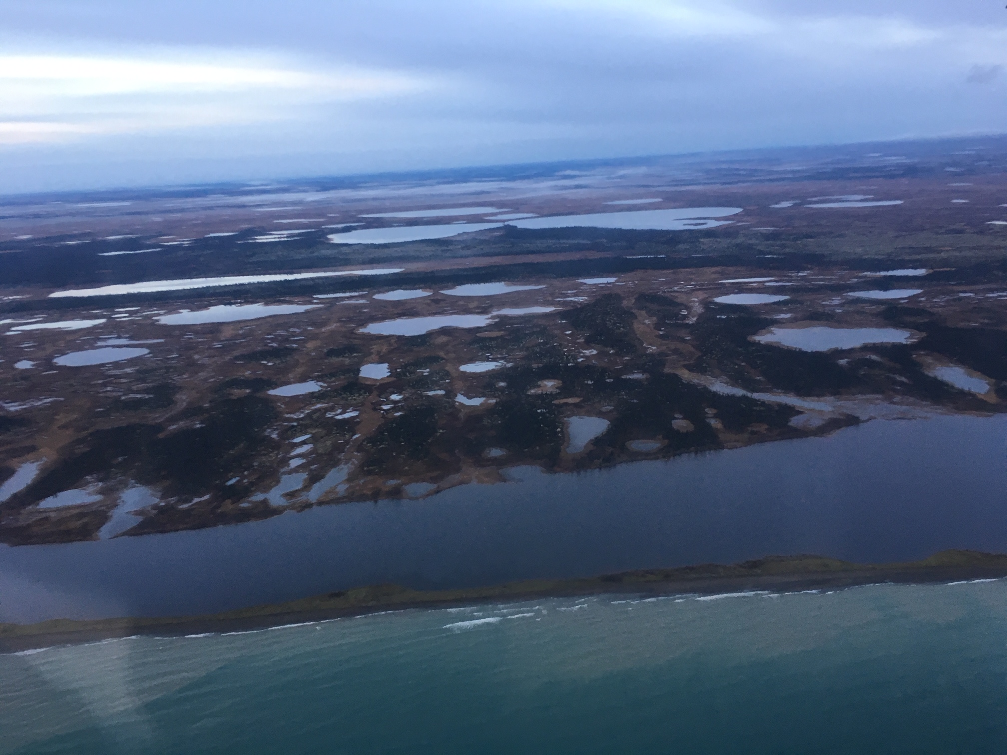 Ground and surface water mingle in Bristol Bay